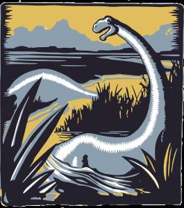 motif dinosaure sur t-shirt