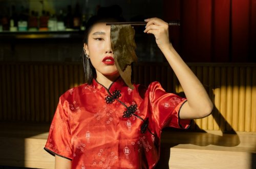 Robe chinoise rouge